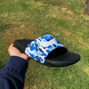 Bape Camo Custom Nike Slides